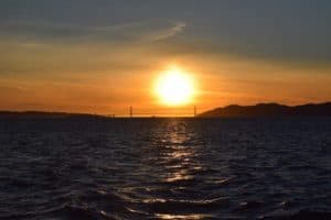 Sunset over the Golden Gate Bridge