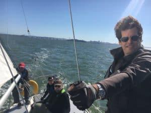 Wind in hair Dana OCSC Sailing School