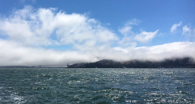 View of Golden Gate bridge from our sailing school