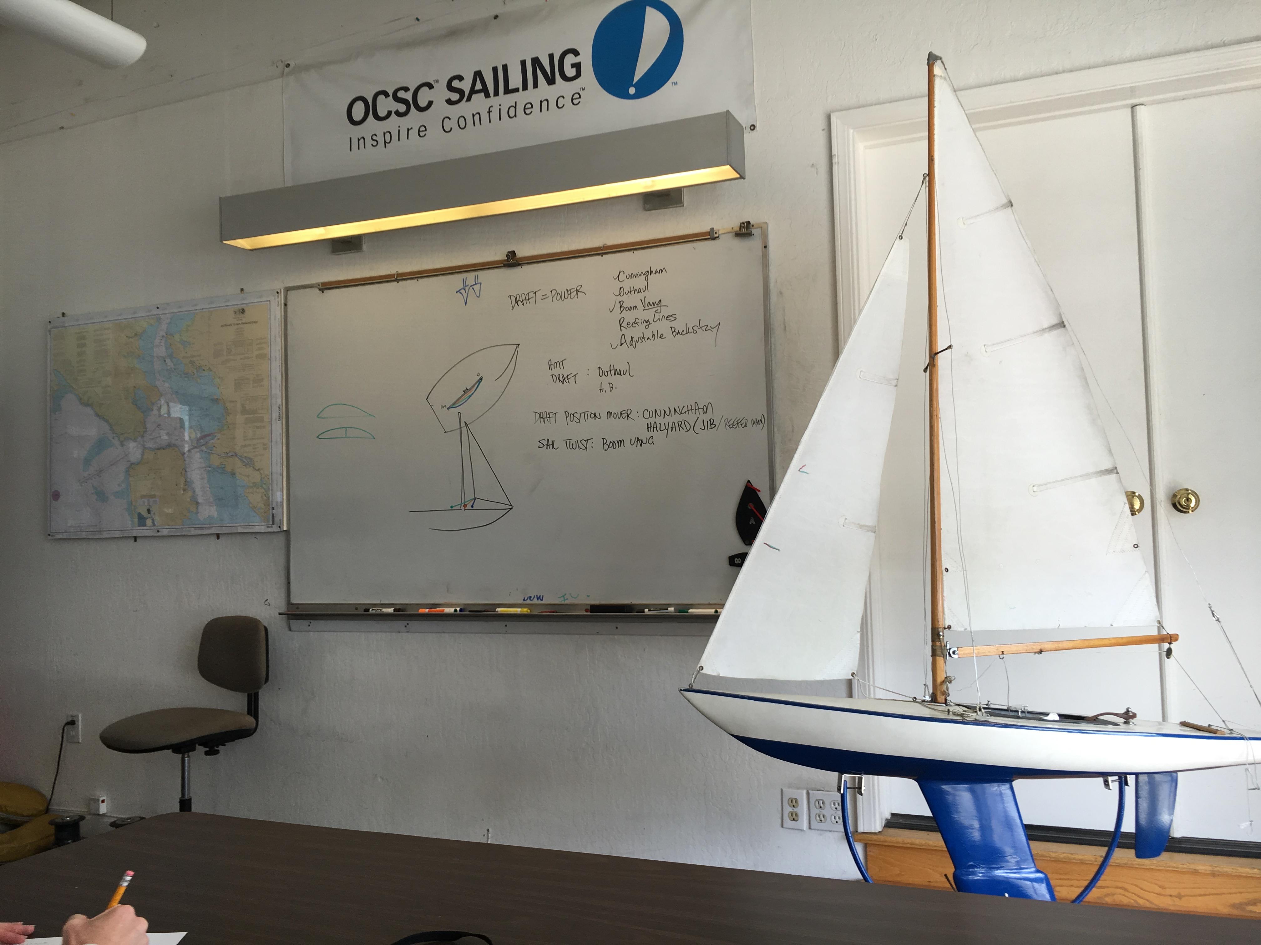 Classroom at OCSC Sailing School in Berkeley, California