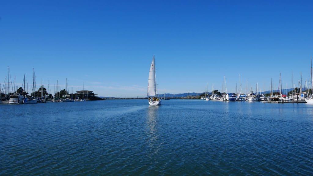 OCSC, in Berkeley Marina, Golden Gate background