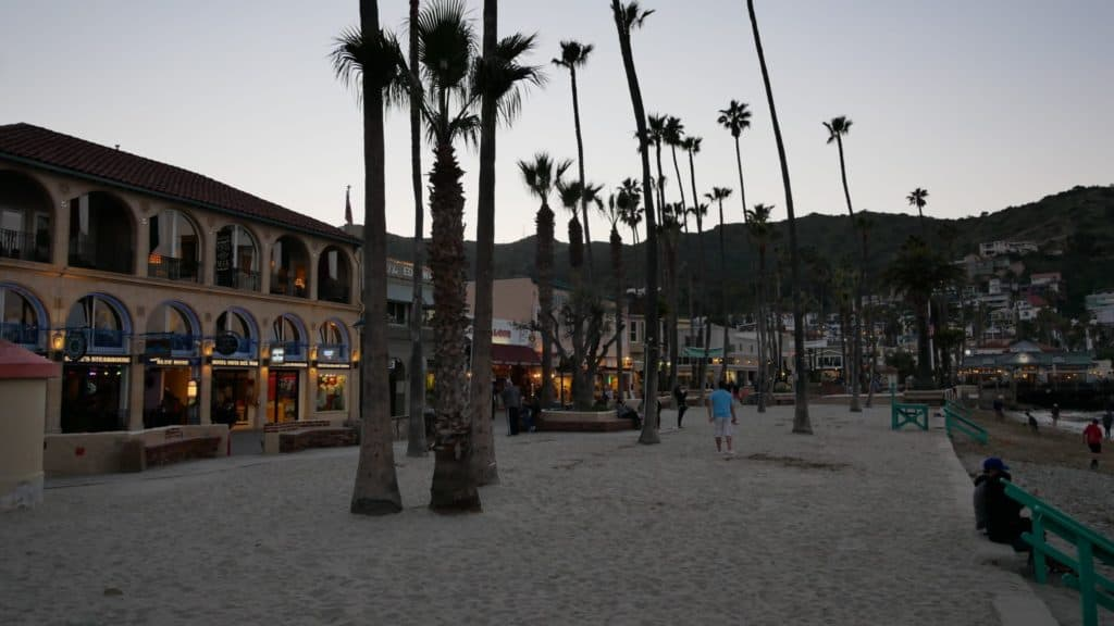 Beach at dusk on Catalina Island, Ca.