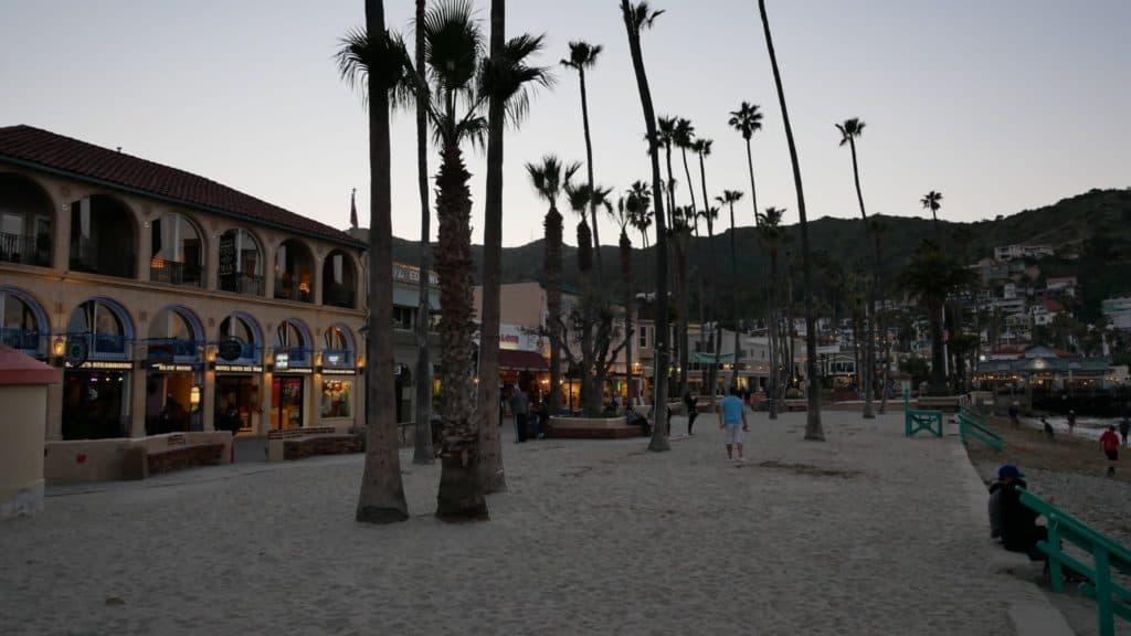 Beach at dusk on Catalina Island, Ca.