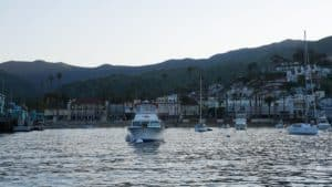 Avalon, Catalina Islands, California, view from boat