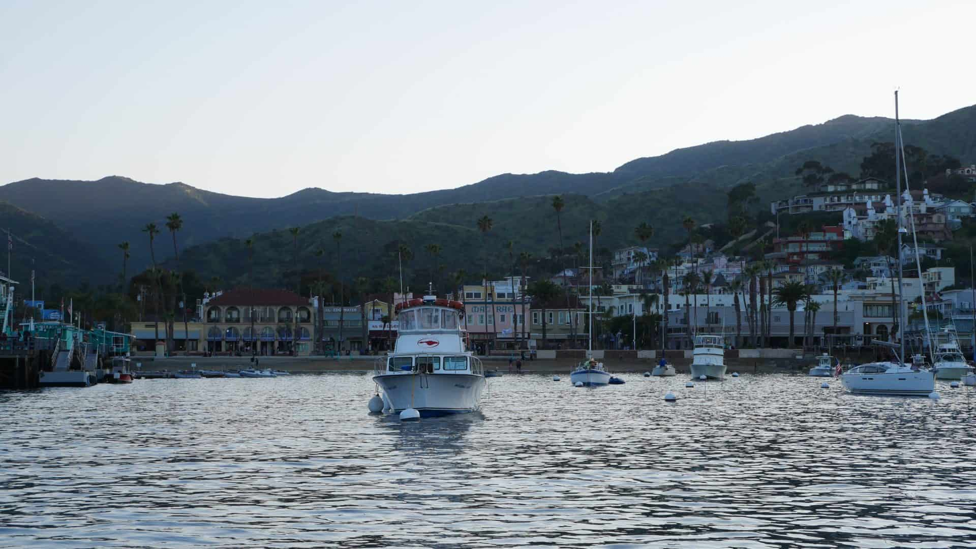 Avalon, Catalina Islands, California, view from boat