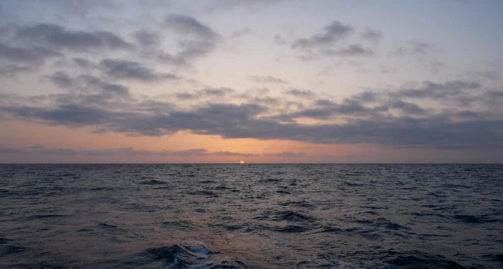 Multicolored sunset in San Diego California