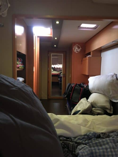 View from bed seasick on Fountaine Pajot Helia 44