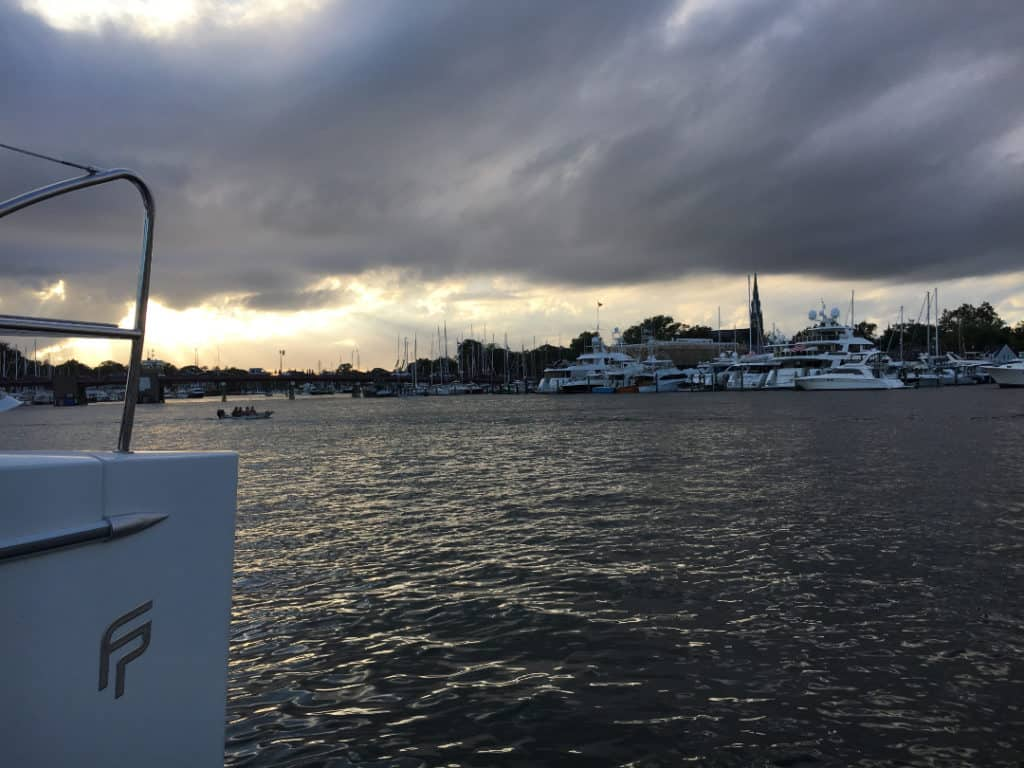 Rain clouds in Annapolis, Maryland