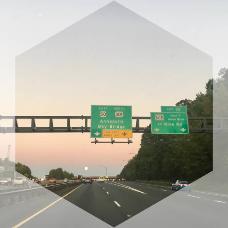 Highway Sign to Annapolis, Maryland