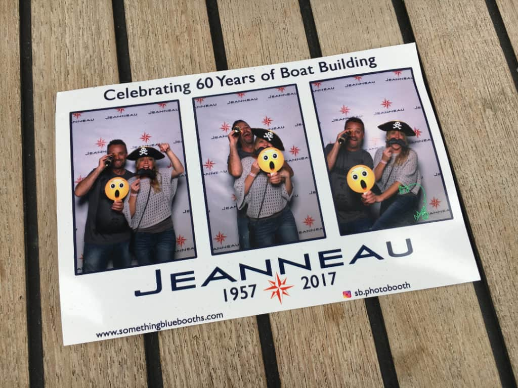 Photo booth pic at the Jeanneau Party in Annapolis