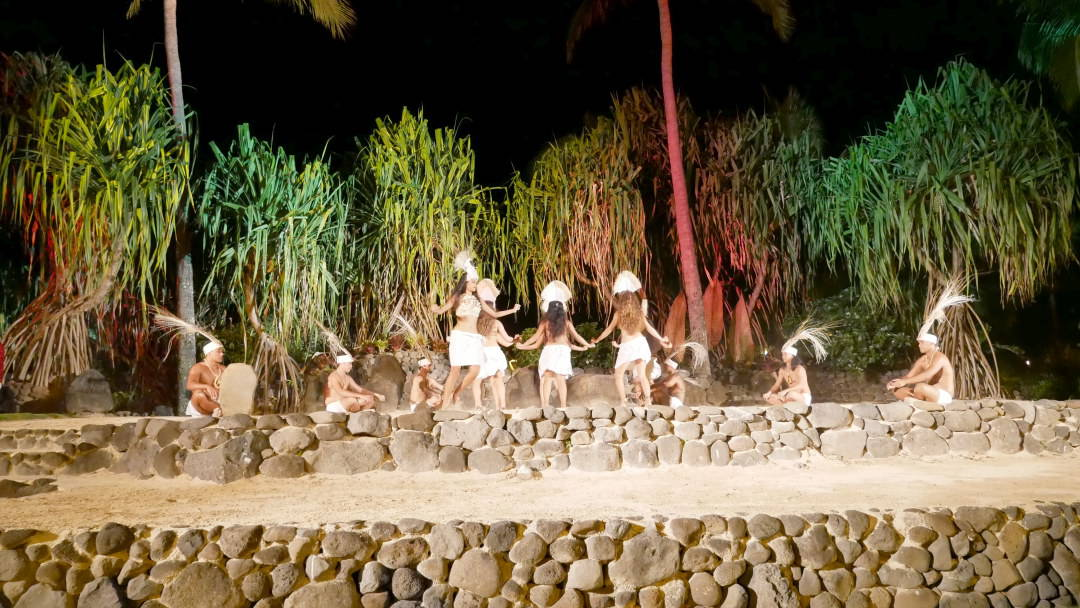 Dancers on stage in Moorea