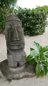 A little tiki statue in Moorea