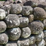 The stones used to make sacred monument in Tahiti