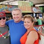 Jack Cole Jeanette Cole and Steve in Tahiti fresh market
