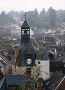 Clock tower in Amboise France