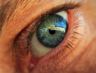 Close up of Matt's eye