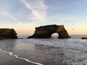 Natural bridge in the ocean