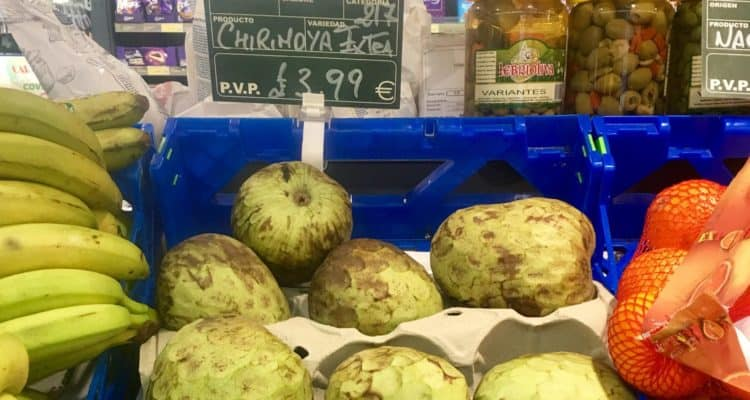 Chirimoya in grocery store