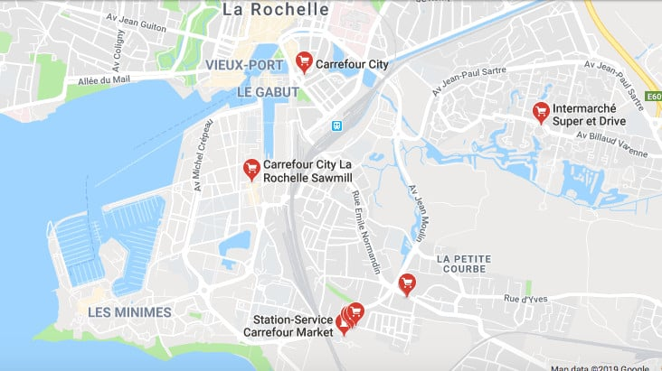 Map of La Rochelle, France
