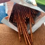 Pretzels lined in their bag