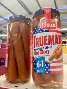 Hot dogs in a jar