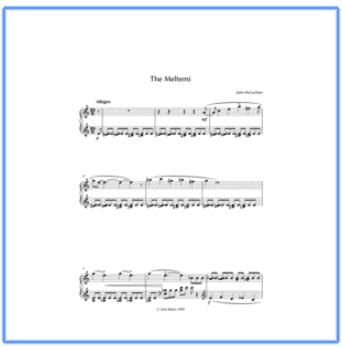 music sheet for meltemi