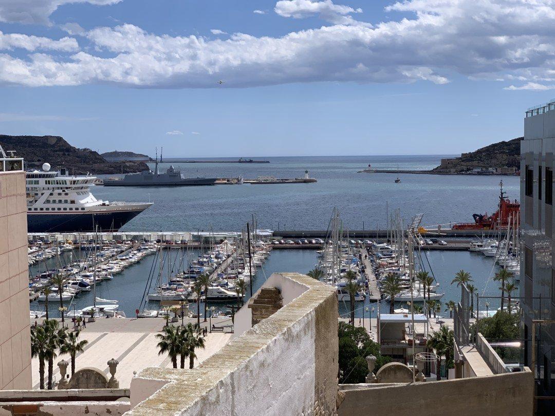Breakwater in Cartagena Spain