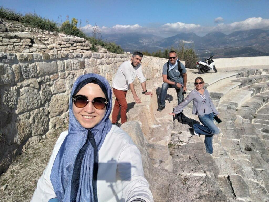 Friends at ruins in Turkey