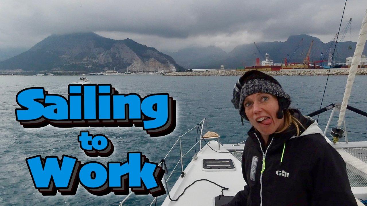Sailing Youtube Emily Sticking out tongue