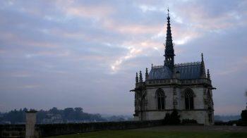 St. Hubert Chapel with sunset