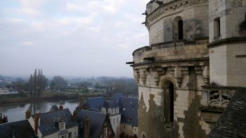 Side view of Chateau d'Amboise overlooking Amboise