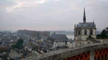 View from balcony of Chateau d'Amboise with Amboise overlook