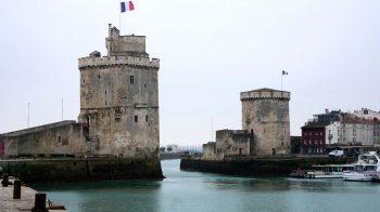 Port towers in La Rochelle