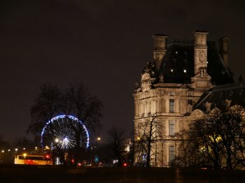 Ferris Wheel in Paris at night