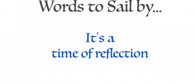 Words: It's a time of reflection
