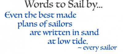 quote for words to sail by